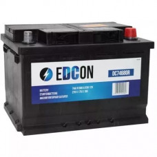 Аккумулятор 12V 74Ah 680А залит заряжен, обратная полярность,+ справа, обслуж. Edcon