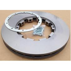 Диск тормозной для DAF перед./задн. вентил. 432x45x258 CF65/75/85 01>,LF55, XF95 с уст. к-том Fomar