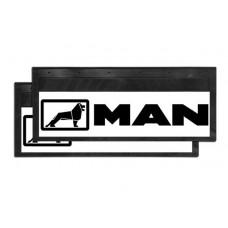 Брызговик для MAN (к-т) 27x66 со светоотражающей белой основой