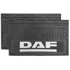 Брызговик для DAF (к-т) 35x60 объемный текст, белый