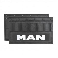 Брызговик для MAN (к-т) 35x60 объемный текст белый
