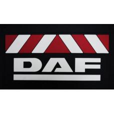 Брызговик для DAF (к-т) 36x58 объемный текст, красн/бел. полоса